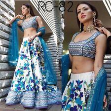 Blue Silk Lehenga Choli Designer Party Wear Indian Wedding Party Bollywood Sari