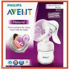 ❤ Philips Avent Natural Comfort Manual Breast Pump BPA Free + Newborn Teat Pack❤