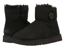 Para mujeres Zapatos ugg Mini Bailey Botón Botas de piel de oveja ante y II 1016422 Negro