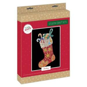 Docrafts Simply Make Christmas Sequin Art - Stocking DSM 105160