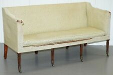 UNRESTORED GEORGIAN SETTEE SOFA CIRCA 1780 VERY RARE FIND HOWARD& SON'S TICKING