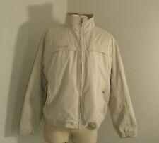 Men's COLUMBIA Full Zip-Up Beige NORTHWAY Water Wind Resistant Jacket XL