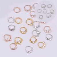 Ring Piercing Nose Ear Small Cartilage Piercing Clicker Tragus Septum Helix Eter