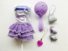Barbie Fashion Fever Teresa Lavender Metallic & Silver Dress & Accessories 2008