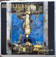 Sepultura Chaos AD original 1993 Europe LP pressing Roadrunner Records VG+/VG++
