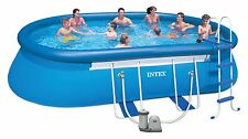 SWIMMING POOL Huge new INTEX 6.10m AG steel frame/inflatable package. Quality!!