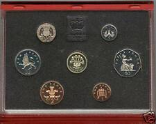 More details for royal mint 1991 deluxe red proof set of 7 coins with certificate
