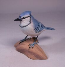 "5-1/8"" Blue Jay Original Blackyard Bird Carvings"