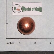 COPPER SPHERE Marble 30mm metal ball ore polished heavy solid 4.5 oz