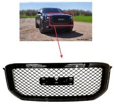 Fit 15 17 GMC Yukon XL Mesh Denali Style Front Grille Grill Hood ABS Gloss Black