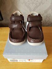 BNIB Clarks CLOUD TUKTU Toddler Boys Brown Shoes Boots 4 G