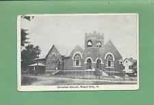 CHRISTIAN CHURCH In MASON CITY, IL On Vintage Unused Postcard