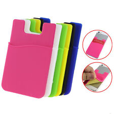 Universal Fashion Adhesive Sticker Back Cover Card Holder Case For Cell Phone