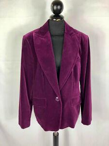 Luisa spagnoli Giacca Woman Velvet Smooth Velvet Woman Jacket Blazer SZ.L - 46