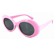 Clout Goggles Rapper Glasses Sunglasses Fancy Dress PINK Oval Shades Grunge