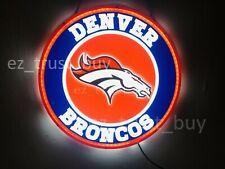 "New Denver Broncos Led 3D Neon Sign 17"" Bar Lamp Decor Poster"