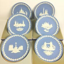 6 Boxed Wedgewood Blue Jasper Christmas Plates Lot: 1970 1971 1972 1973 1974 197