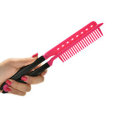 Folding V Comb Hair Straightener Hairdressing Salon Straightening BrushyiLJ