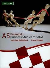Essential Business Studies A Level: AS Student Book for AQA (A Level-ExLibrary