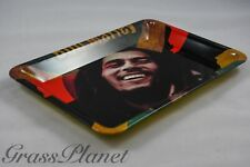 "Bob Marley Rolling Papers METAL Style Hemp Rolling Tray 5 × 5.5"" x 7""USA🔥🍁"