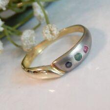 585 Gold Ring , Edelsteine !! Damen Ring Gold !!!