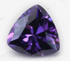 6X6mm AAAAA Purple Sapphire Gems 1.18ct Trillion Faceted Cut VVS Loose Gemstone