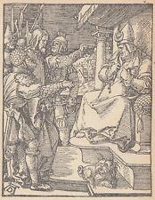 C3310 Gesù dinanzi a Caiafa - Religione - Stampa d'epoca - 1925 vintage print