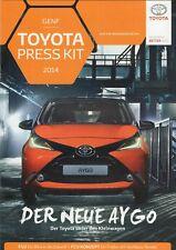 Toyota car range Prospekt - Pressemappe / Brochure - Presskit_Genf / Geneva 2014