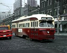 1965 Downtown TORONTO STREETCAR Photo  (199-d)