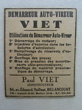 7/1932 PUB P VIET DEMARREUR AUTO-VIREUR MOTEUR AVION AIRCRAFT ORIGINAL FRENCH AD