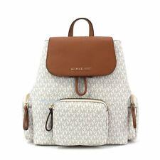 Michael Kors Abbey Large Cargo Backpack Vanilla MK Signature Bag
