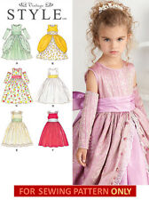 SEWING PATTERN! MAKE GIRLS PARTY DRESS! COSTUME~FLOWER GIRL~PRINCESS! SIZE 4~8!