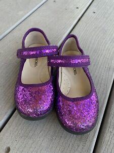 Cherokee Purple Glitter Sparkle Girls Mary Janes Toddler Size 8