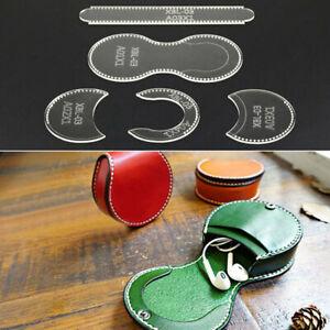 Purse Leather Craft Acrylic Wallet Bag Pattern Stencil Template Tool DIY Set TD
