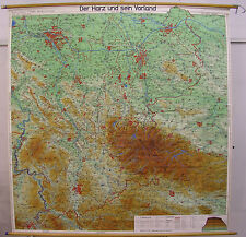Scheda crocifissi Muro Mappa Map Weser montagna paese resina Solling Elm Deister 180x186 75t
