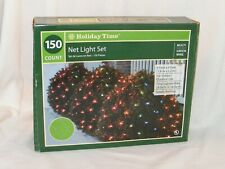 Christmas Holiday Time Net Light Set . Indoor / Outdoor Multi Color . 150 Count