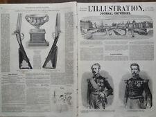 L' ILLUSTRATION 1859 N 853 CON IL SUO SUPPLEMENTO. LORO GENERALI MELLINET e NIEL