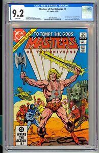 Masters Of The Universe #1 CGC 9.2 MOTU He-Man 1st Full Comic 1982 DC