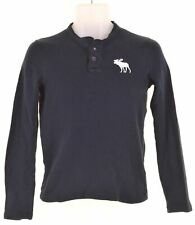 ABERCROMBIE & FITCH Boys Top Long Sleeve 10-11 Years Medium Navy Blue  JS09