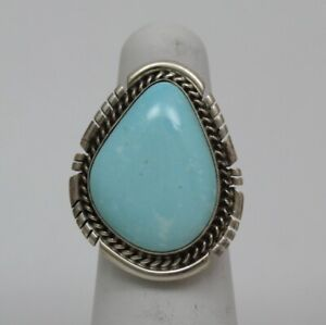 Navajo Indian Ring 50% Off Size 6 Royston Turquoise Sterling Dave Skeets