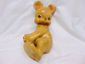 Vintage 1950's Rempel Rubber Squeaky Toy Bear