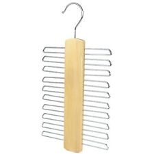 The Hanger Store™ 20 Bar Wooden Tie Hanger - Belt & Tie Rack Storage Organiser