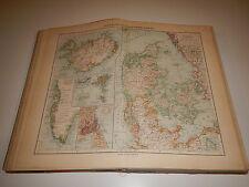 Adolfo Stieler GRANDE ATLANTE GEOGRAFICO Ed. 1909