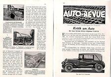 Le nouveau N.S.U. - Convertible critique du voiture v. wolfgang von Lengerke c.1930