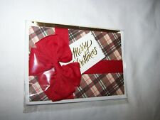 Hallmark Signature Christmas Card/Envelope; Package with Red Bow