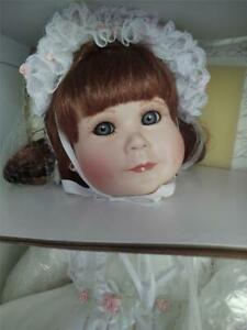 1990 Porcelain Doll Kelly Girl Doll by Beverly Parker 1238/5000 New in Box