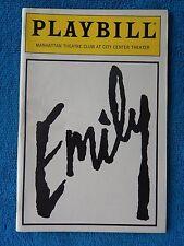 Emily - Manhattan Theatre Club Playbill - April 1988 - Lisa Banes - Donald May
