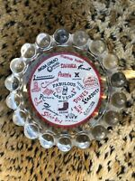 Vintage FABULOUS Las Vegas Casino Hotel Hobnail Glass Ashtray Souvenir - EUC!