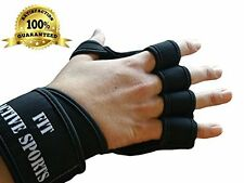 New Ventilated Weight Lifting Gloves with Built-In Wrist Wraps, Full Palm Pro...