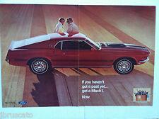 1965 MUSTANG FASTBACK MACH 1 302/351/428/429/V8 FULL 2-PAGE RARE original AD